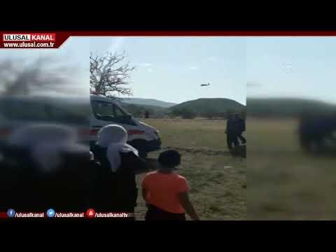 Askeri helikopter, yaralı vatandaş için havalandı