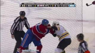 Andrew Ference vs Benoit Pouliot Apr 18, 2011