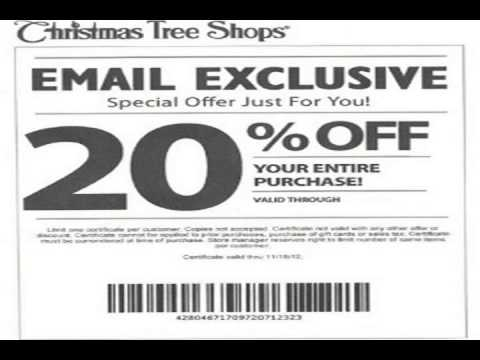 coupons christmas tree shop - YouTube