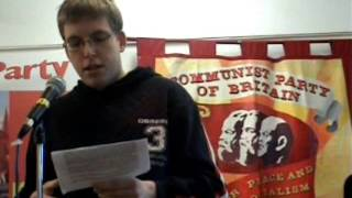 Communist Party 50th Congress - Czech Communist Youth KSM delegate