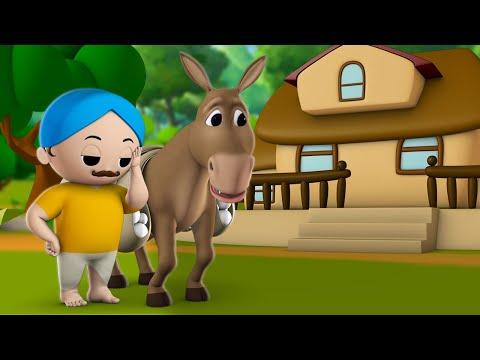 The Lazy Donkey సోమరిపోతు గాడిద నీతి కథ Telugu Bedtime Moral Stories for Kids Children Fairy Tales
