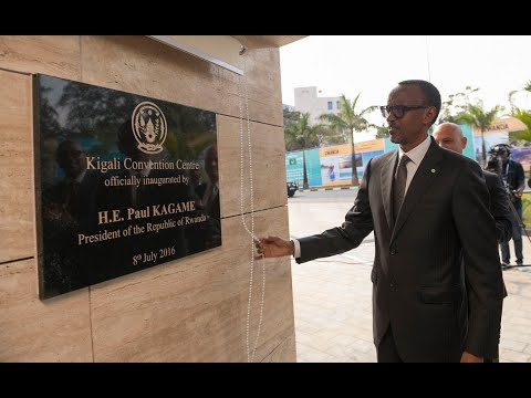 PRESIDENT KAGAME UNVEILS KIGALI CONVENTION CENTRE