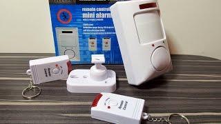 Сигнализация mini Alarm с Aliexpress.(Громкоголосая сигнализация, работает от 6v или 4х батареек АА. Сигнализация для квартиры, дома, дачи, гаража..., 2015-11-05T18:00:59.000Z)