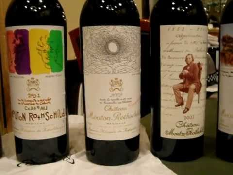 Château Mouton Rothschild wine collection from 1918 to 2008