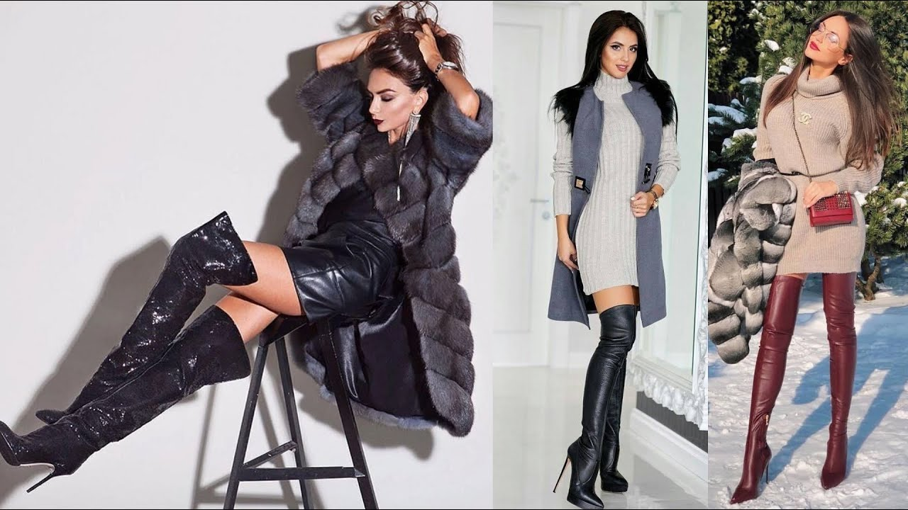 Latest fashion of latex & leather long boots designs/how to wear/style latex thigh high boots#2020