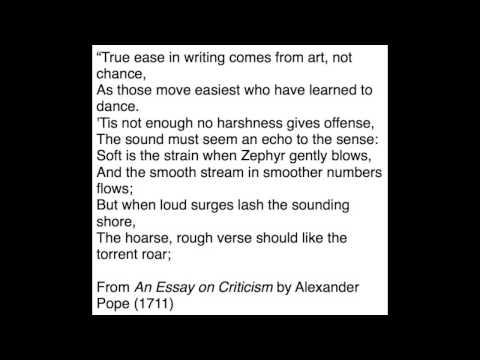 Alexandar Popes   Part 1 An Essay on Criticism