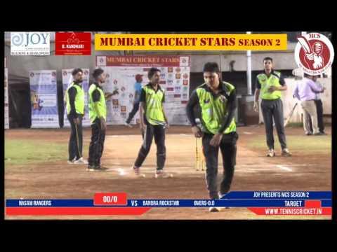 nasam rangers vs bandra rockstars   Mumbai Cricket Stars Season 2 - 2017