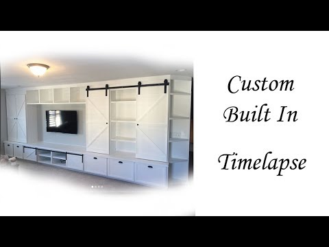 Epic entertainment center timelapse!
