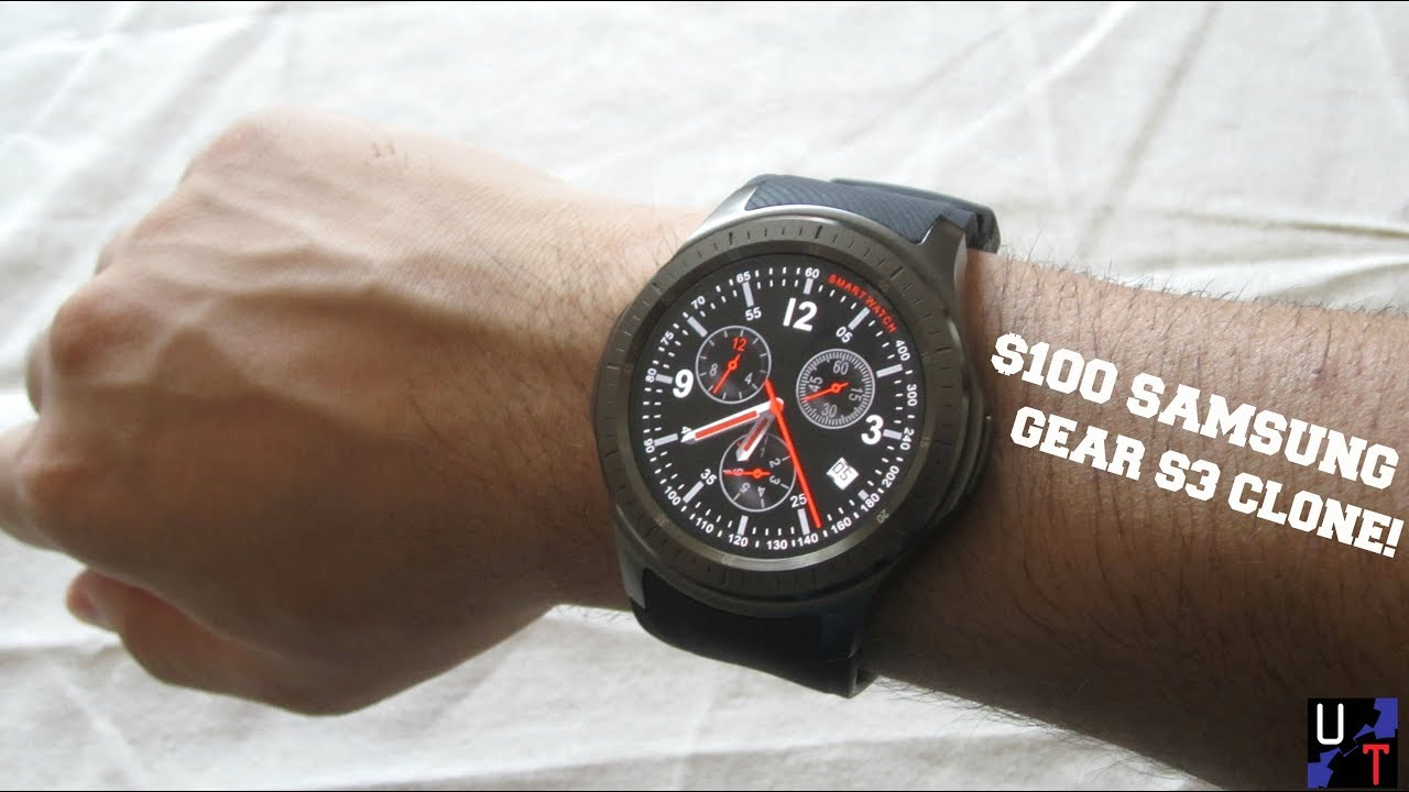 New $100 Samsung Gear S3 Frontier Clone Unboxing & 1st Impressions!