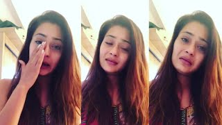 Television Actress SARA KHAN Break Down in TEARS