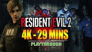 RESIDENT EVIL 2 Remake - Demo in 4K/29 Minute Playthrough w/Maximilian