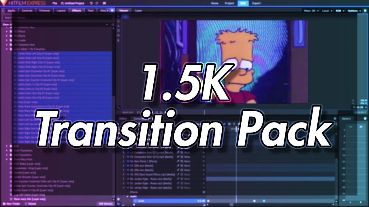 hitfilm 4 express transitions
