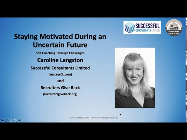 Staying Motivated During Uncertain Times