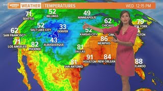 Weather: Humidity and spotty rain stay in the forecast