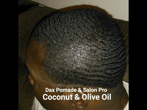 360 Waves: Dax Pomade & Salon Pro coconut formula with Almon