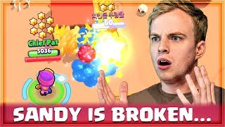 SANDY NEEDS A NERF! Gemming & Rocking NEW Brawler | Brawl Stars