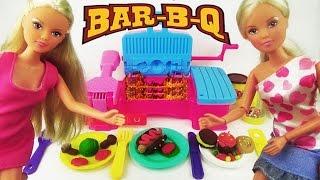 Игровой набор пластилин Барбекю для пикника, играем куклами, лепим / Play set аналог Play Doh(Кукла Штеффи со своими подружками приехала на пикник и захватила с собой набор Барбекю. Так как они не умели..., 2015-12-21T15:47:17.000Z)