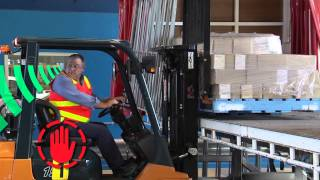 unloading pallets from a truck tray safely