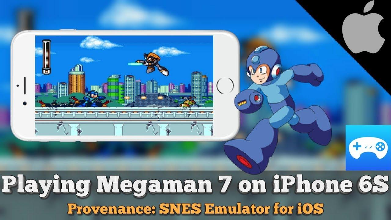 Provenance 1 4 (SNES iOS Emulator) Megaman 7 on iPhone 6S
