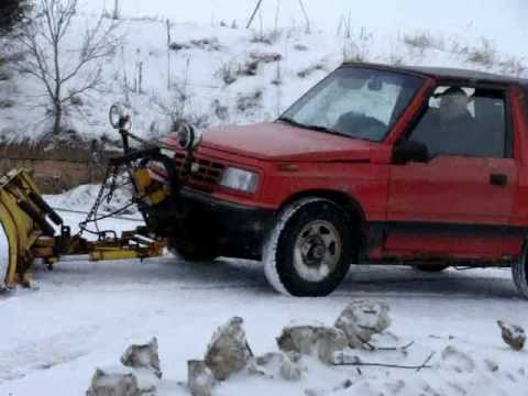 Meyer Snow Plow >> Cheap Snow Plow, Geo Tracker with a Meyer 6' plow - YouTube