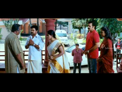 Christian Brothers Movie Scenes   Saikumar accepts Mohanlal, Dileep and Kavya   Kaniha