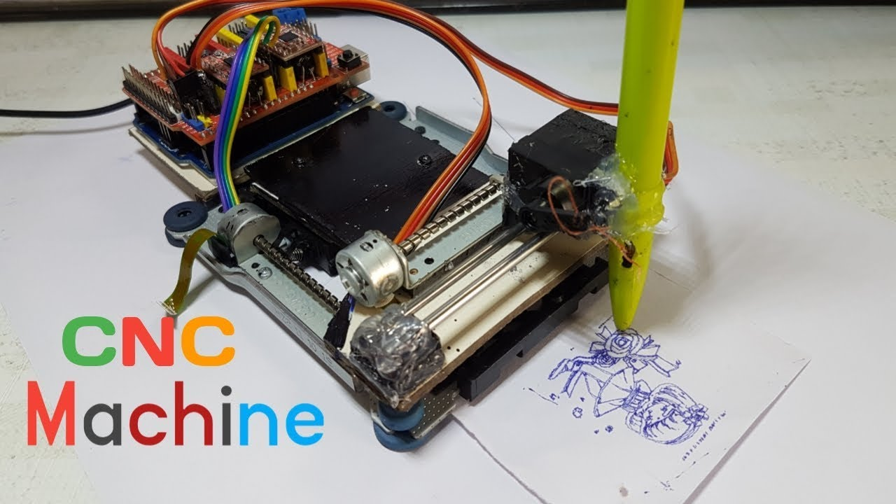 How make homework writing machine cnc from