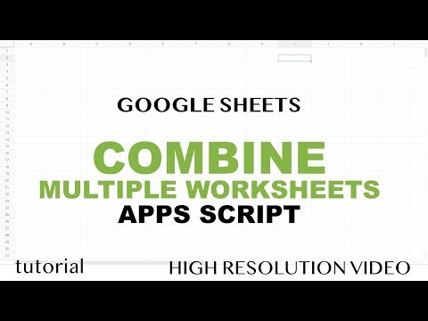 Google Sheets - Combine All Sheets into One When Column Order Doesn't Match - Apps Script - Part 17