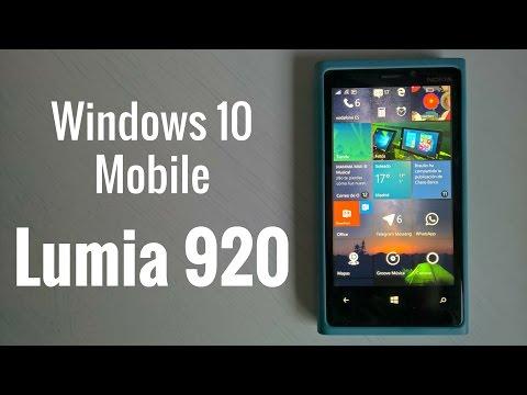 Lumia 920 Windows 10 Mobile, rendimiento en español