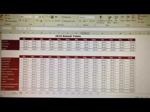 tax write off excel spreadsheet youtube