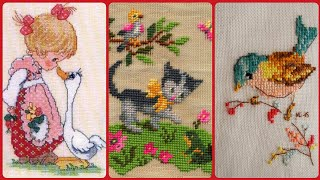 Beautiful And Amazing Cross Stitch Hand Embroidery Unique Patterns Design Part #1