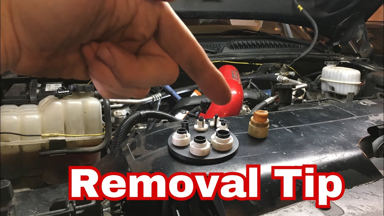 duramax broken heater hose connector quick disconnect and install  [ 1280 x 720 Pixel ]