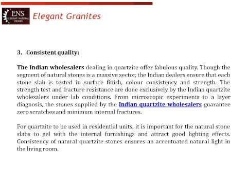 Indian Quartzite Wholesalers