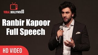 Ranbir Kapoor Full Speech | YRF's New Talent Aadar Jain