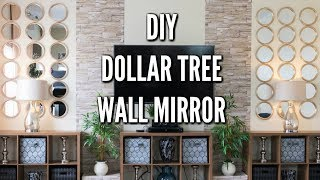 ✨Glam Home✨ DIY DOLLAR TREE WALL MIRROR DECOR | DIY GLAM HOME DECOR