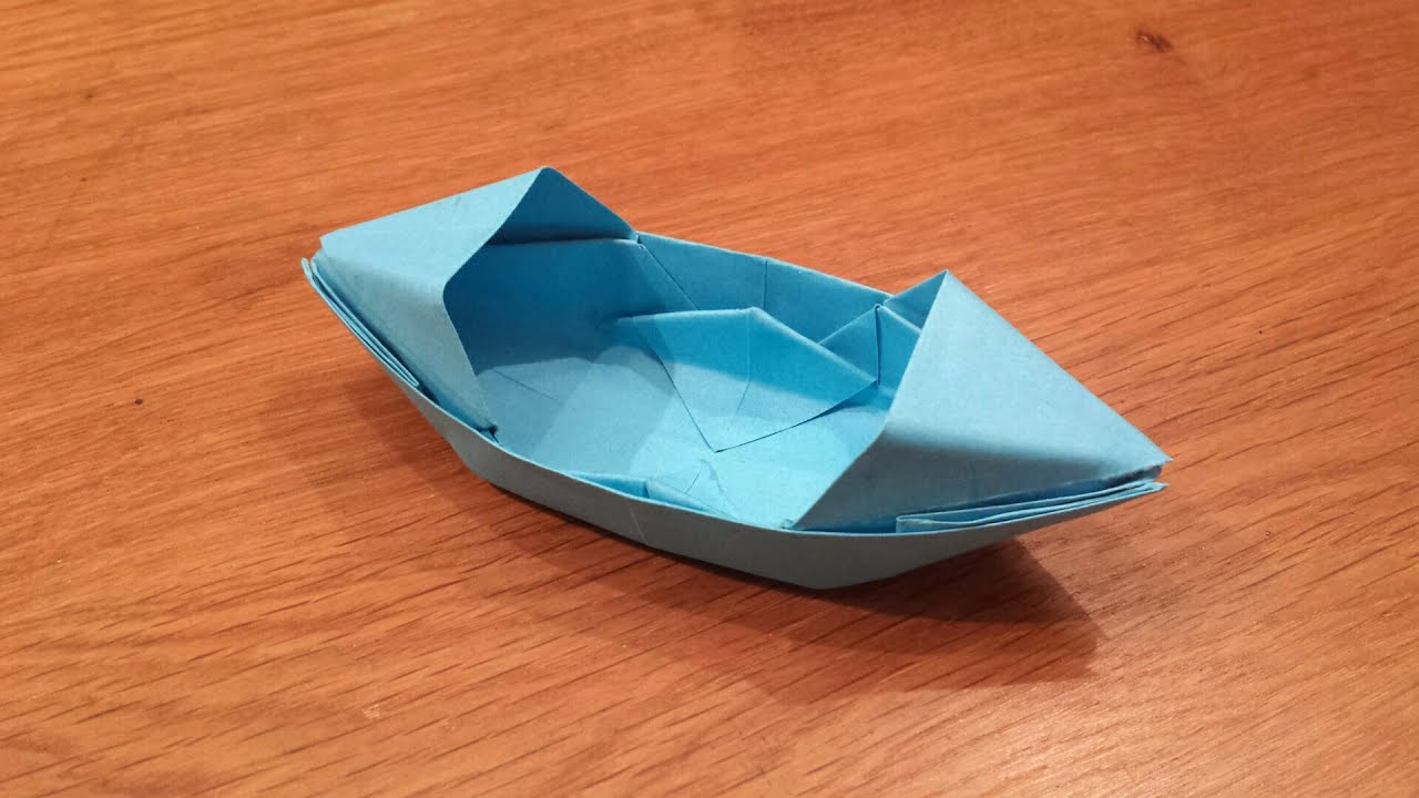 how to make a paper boat that floats origami youtube