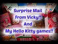 Surprise mail from Vicky! And my Hello Kitty Games!!