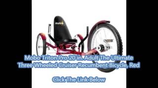 Mobo Bike - Mobo Triton Pro The Ultimate 3-Wheeled Cruiser, Adult, Youth