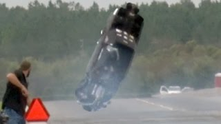 FLYING CAR - Twin Turbo Mustang WRECK