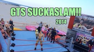 GTS WRESTLING: SuckaSlam!! WWE Wrestling Figure Matches Animation! Mattel Elites PPV Event!