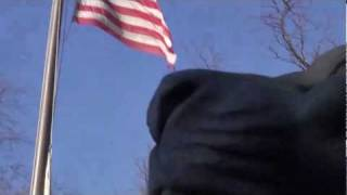 American flag in the wind....