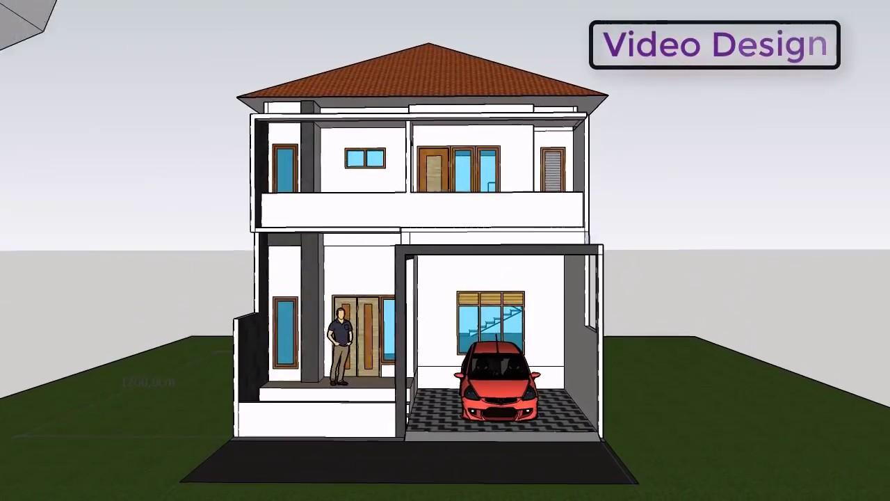 Rumah Di Lahan Terbatas Dengan Konsep 2 Lantai Luas 7x12 M Dengan 3 Kamar Full Luar Dalam