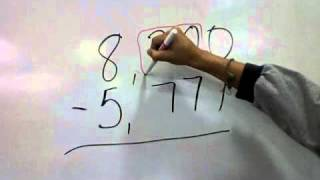 Subtraction Across a Zero