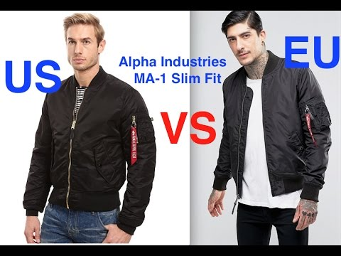 Señora sabor dulce Eclipse solar  Alpha Industries MA 1 Slim Fit Bomber Jacket - YouTube