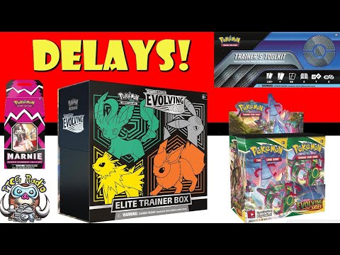 Evolving Skies Booster Boxes & Other Products Delayed! (Pokémon TCG News)