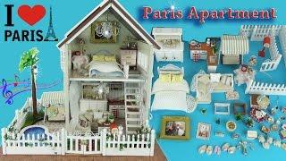 Домик для кукол своими руками с мебелью, посудой Игровой набор для девочек / House Children Toys(Обзор и распаковка волшебного кукольного домика для девочек во французском стиле. Домик музыкальный со..., 2016-06-25T14:02:23.000Z)