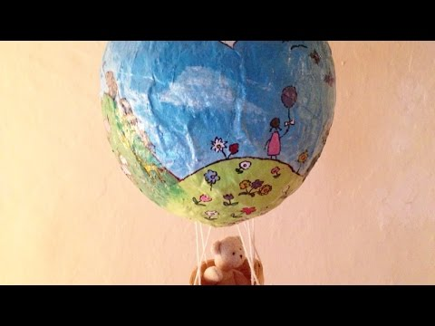 How To Make a Paper Mache Hot Air Balloon -DIY Crafts Tutorial - Guidecentral