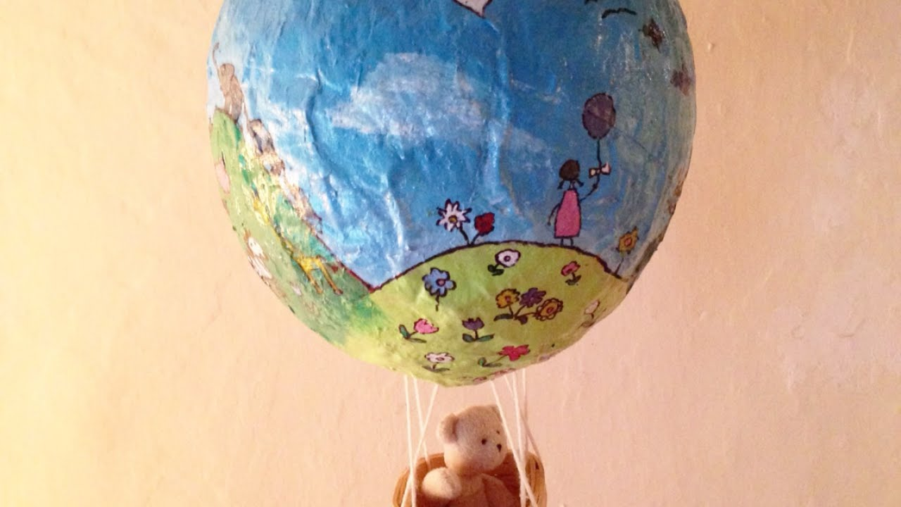 How to make a paper mache hot air balloon diy crafts tutorial how to make a paper mache hot air balloon diy crafts tutorial guidecentral youtube jeuxipadfo Images