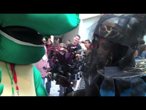 Pink Ranger VS Daniel the Turtle at Power Morphico...
