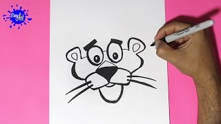 Como dibujar  la pantera rosa - How to draw the Pink Panther