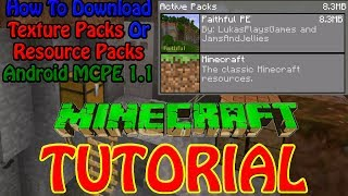 Minecraft PE | How To Download a resource pack/texture pack